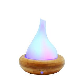 AromaScape™ Glass & Bamboo Ultrasonic Diffuser | GNC