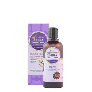 Shea Body Oil with Vitamin E - Lavender | GNC