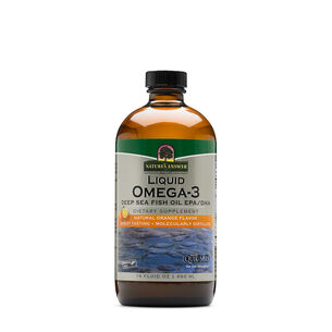 Liquid Omega-3 EPA-DHA - Natural Orange Flavor | GNC