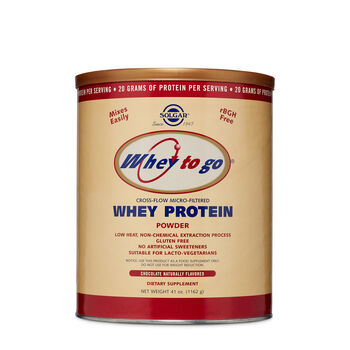 Whey to Go® Whey Protein Powder - Chocolate Naturally Flavored | GNC