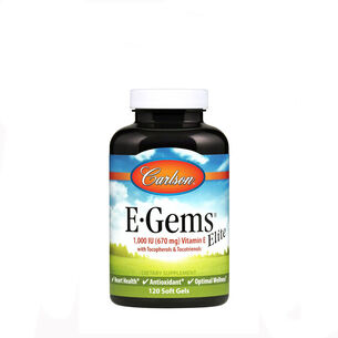 GNC 비타민E Carlson E-Gems Elite Natural Vitamin E - 1000 IU