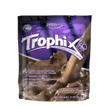 Trophix™ 5.0 Ultra Sustained-Release Protein - Supreme ChocolateSupreme Chocolate | GNC