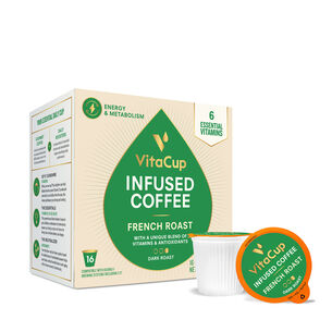 Vitamin Infused Coffee Pods - French Roast | GNC