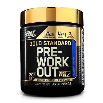 Gold Standard Pre-Workout™ - Blueberry Lemonade - Exclusive 20% More Free Bonus SizeBlueberry Lemonade | GNC