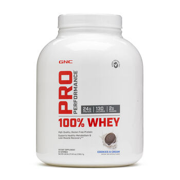 100% Whey - Cookies and CreamCookies & Cream | GNC