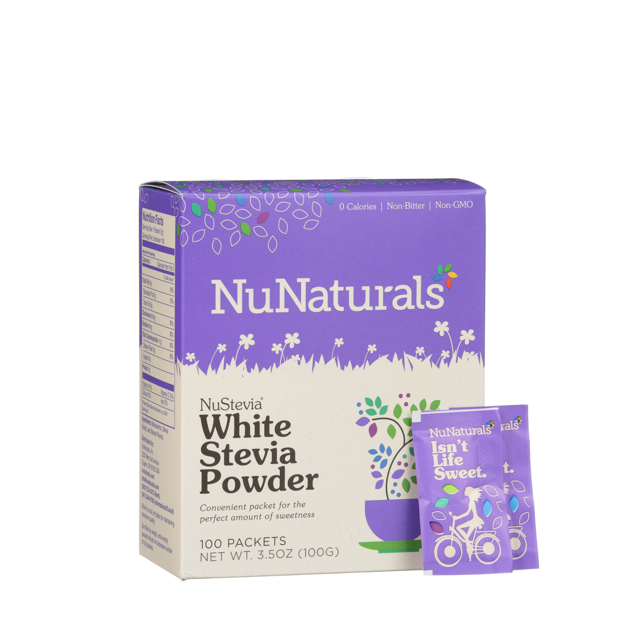 nustevia white stevia powder 100 packets nunaturals natural sweeteners shop your way. Black Bedroom Furniture Sets. Home Design Ideas