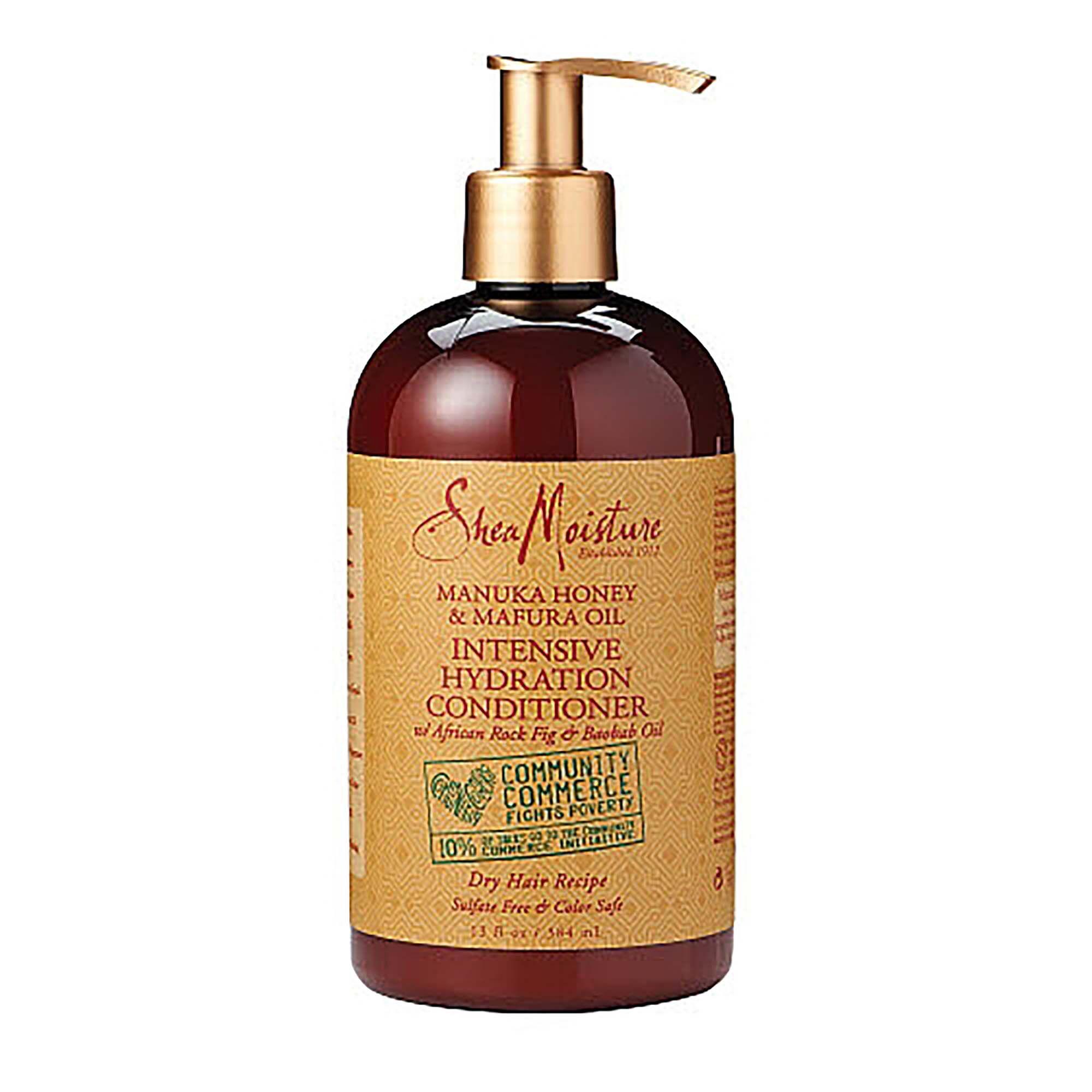 Manuka Honey & Mafura Oil Intensive Hydration Conditioner 13 Fl. Oz. Shea Moisture Shampoo & Conditioner