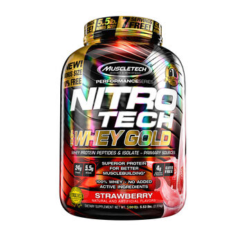 Nitro-Tech™ 100% Whey Gold - StrawberryStrawberry | GNC