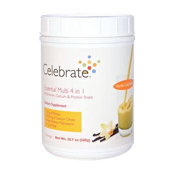 Essential Multi 4 in 1 Multivitamin, Calcium and Protein Shake - Vanilla Cake BatterVanilla Cake Batter | GNC