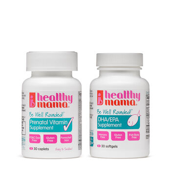 Be Well Rounded!™ Prenatal Vitamin + DHA Combo | GNC