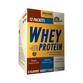 Whey Protein Variety Packets - Chocolate, Unflavored, French VanillaVariety Pack | GNC