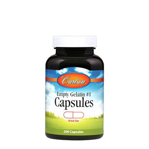 Empty Gelatin #1 Capsules | GNC