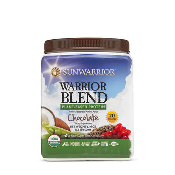 Warrior Blend Raw Vegan Protein - ChocolateChocolate | GNC