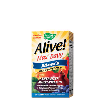 Alive!® Max3 Daily - Men's Max Potency | GNC