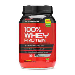 100% Whey Protein - Natural VanillaNatural Vanilla | GNC