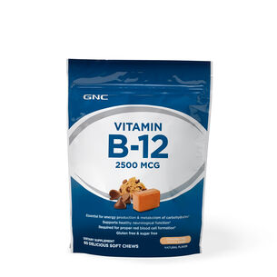 Vitamin B-12 Soft Chew 2500 MCG - Chocolate Chip Cookie DoughChocolate Chip Cookie Dough | GNC