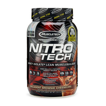 Nitro-Tech™ - Decadent Brownie CheesecakeDecadent Brownie Cheesecake | GNC