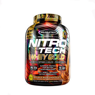 Nitro-Tech™ 100% Whey Gold - Double Rich ChocolateDouble Rich Chocolate | GNC