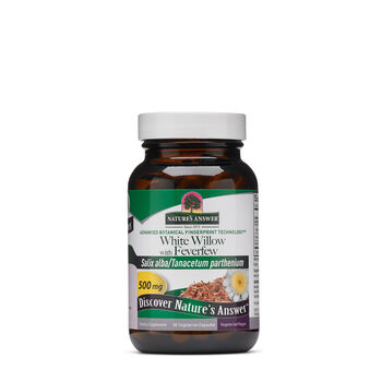 White Willow with Feverfew 500mg | GNC