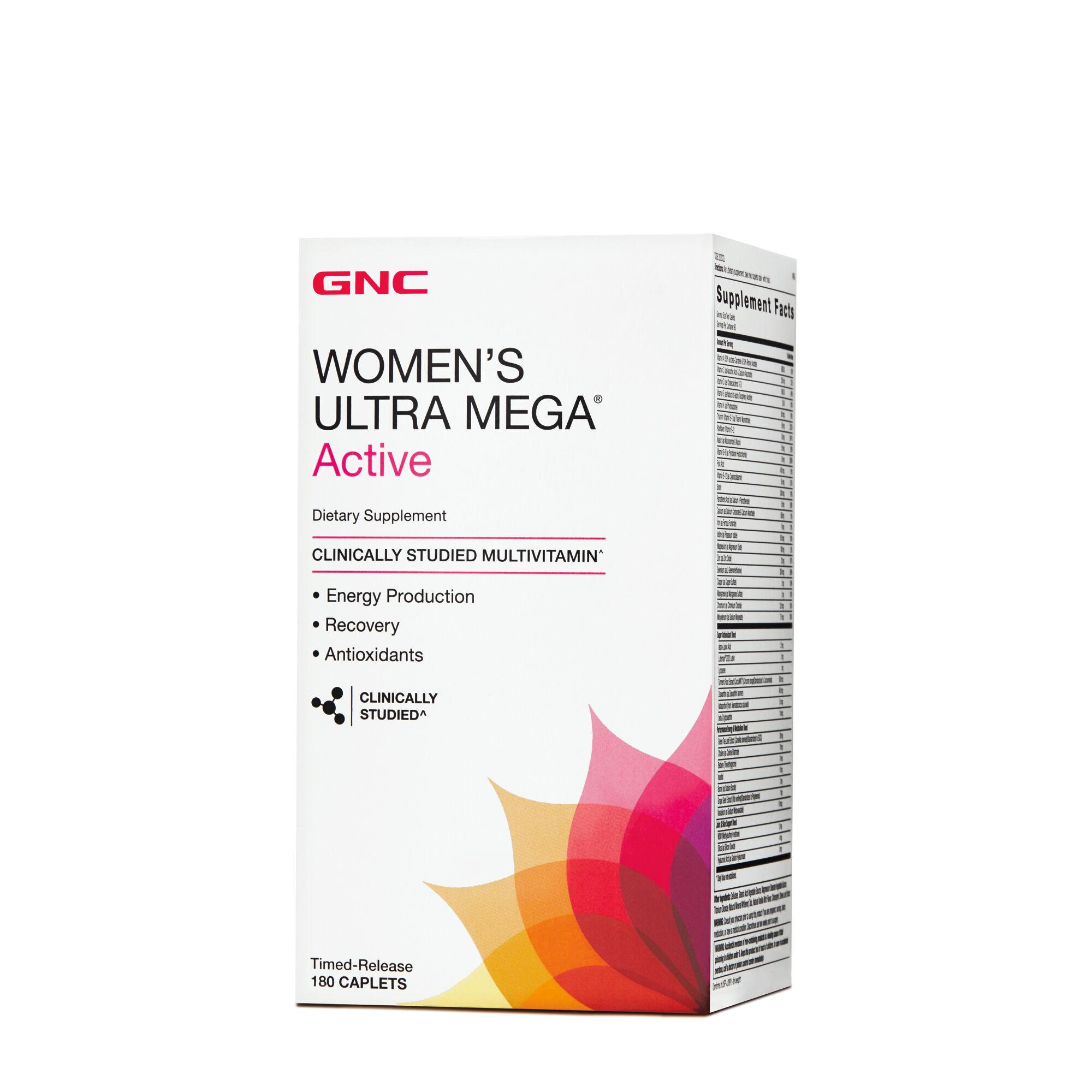 GNC Women's Ultra Mega® Active - 180 Caplets - GNC - Train