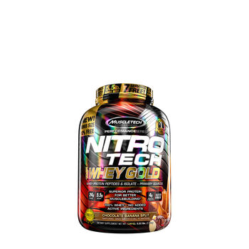 Nitro-Tech™ 100% Whey Gold - Chocolate Banana SplitChocolate Banana Split | GNC