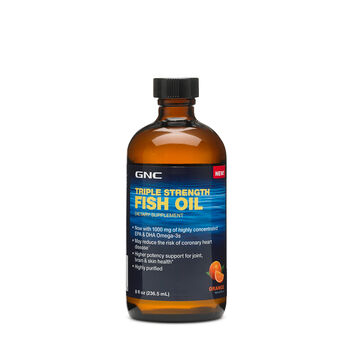 Gnc triple strength fish oil orange gnc for Where does fish oil come from