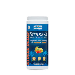 Stress-X Magnesium Powder - Raspberry Lemon | GNC