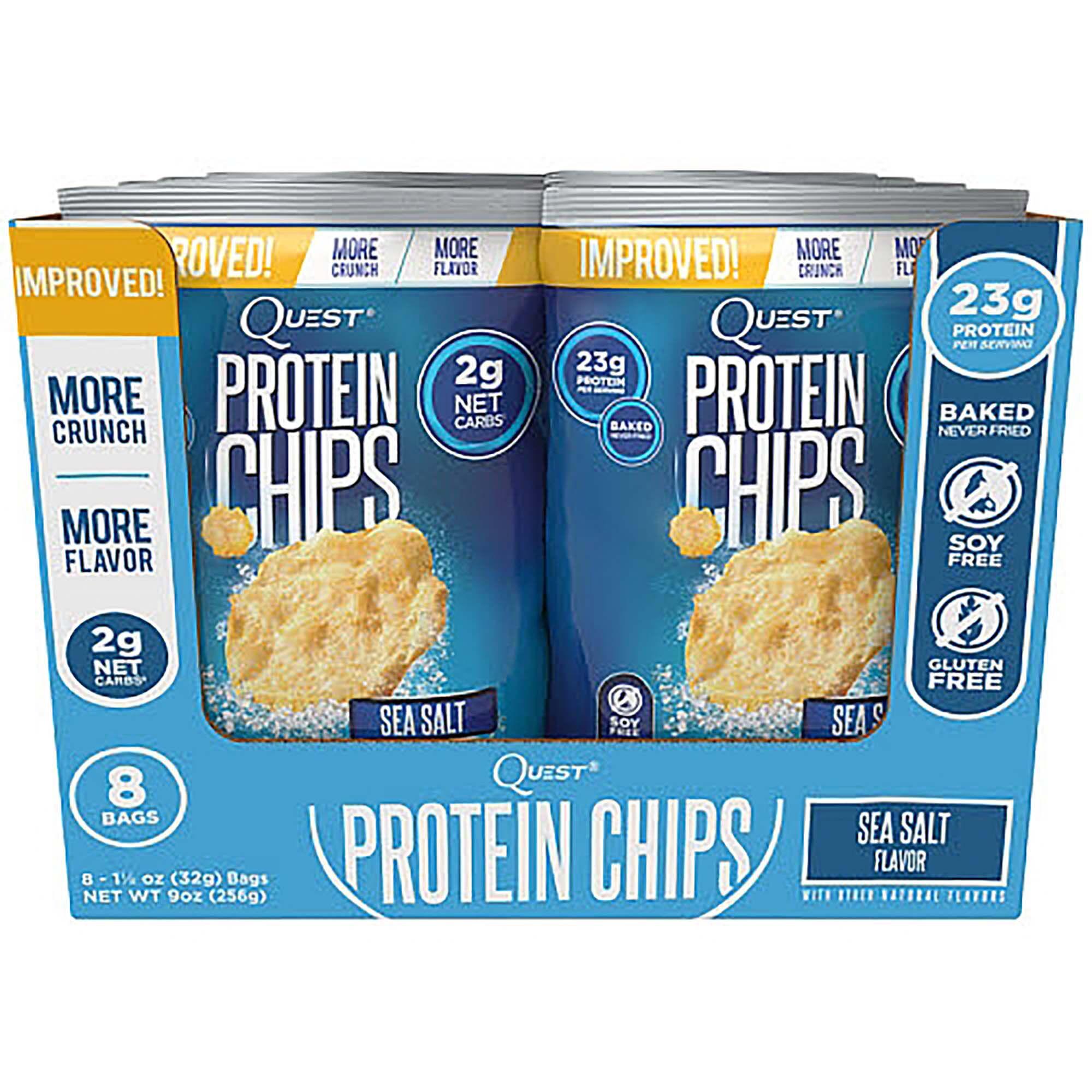 Quest Nutrition Protein Chips - Sea Salt   GNC