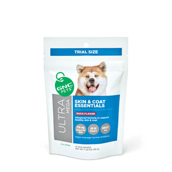 Ultra Mega Skin & Coat Essentials for All Dogs - Tasty Duck Flavor - TRIAL SIZE | GNC