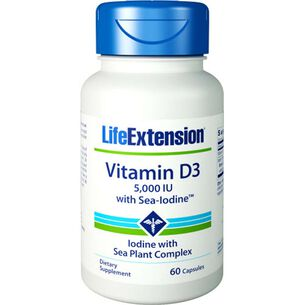Vitamin D3 5,000 IU with Sea-Iodine™ | GNC