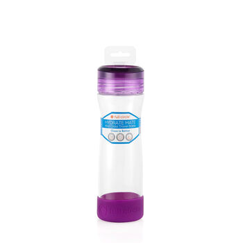 Hydrate Mate 16 oz. Glass Bottle - Elderberry | GNC