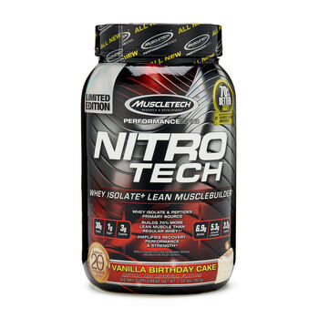 Nitro-Tech™ - Vanilla Birthday CakeVanilla Birthday Cake | GNC
