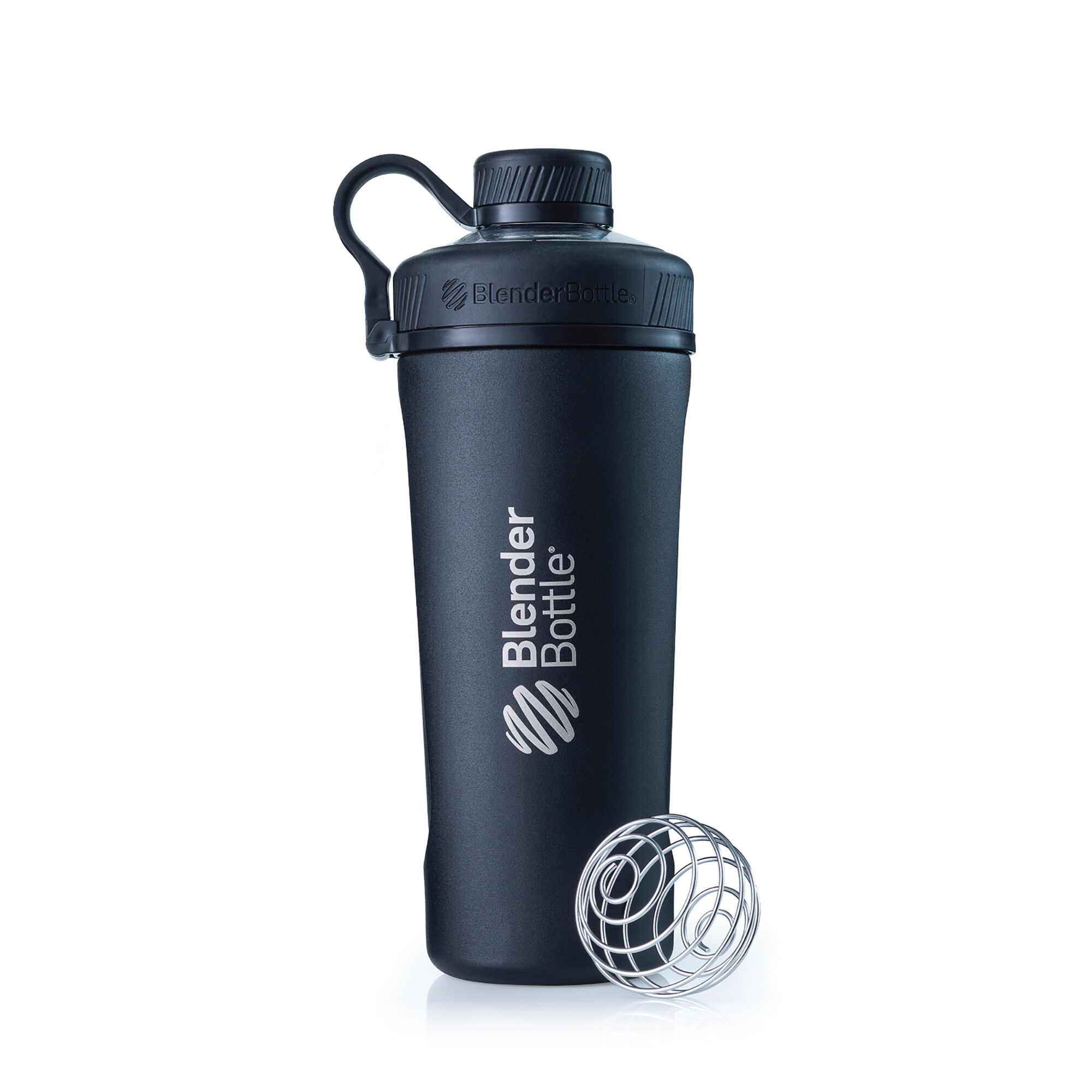 BlenderbottleRadiang Insulated Stainless Steel Matte Black Mixers Shakers And Bottles