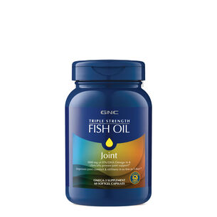Fish oil omega 3 fatty acid supplements gnc for Fish oil for joints