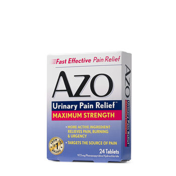 AZO Urinary Tract Defense, Antibacterial Urinary Tract Pain Relief Dietary Supplement, Helps Control The Infection Plus General Pain Relief, Methenamine, Sodium Salicylate Analgesic, 24 CountReviews: 1.