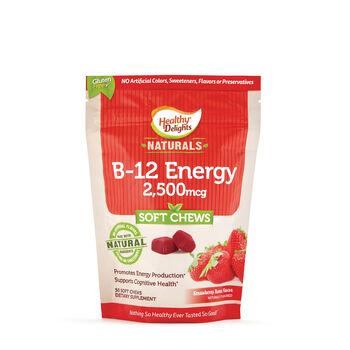 B-12 Energy 2,500mcg Soft Chews - Strawberry Burst | GNC