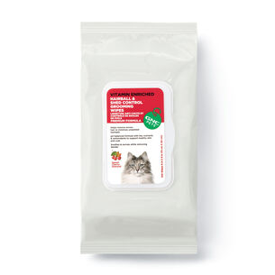 Hairball & Shed Control Grooming Wipes- Sweet Cherry Almond | GNC