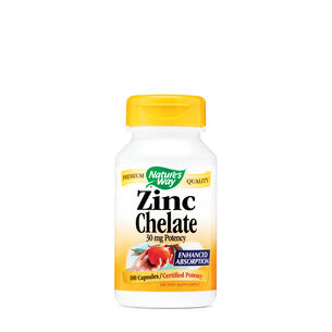 Zinc Chelate - 30 mg Potency | GNC