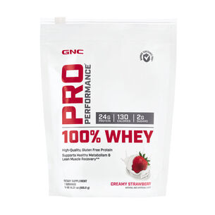 100% Whey - Creamy StrawberryCreamy Strawberry | GNC