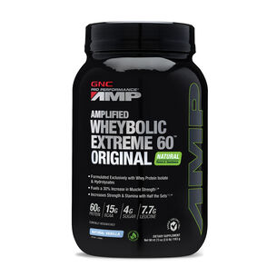 Amplified Wheybolic Extreme 60™ Original Natural Flavors - VanillaNatural Vanilla | GNC