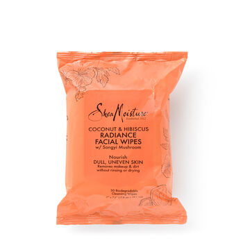 Coconut & Hibiscus Radiance-Boosting Cleansing Facial Wipes | GNC
