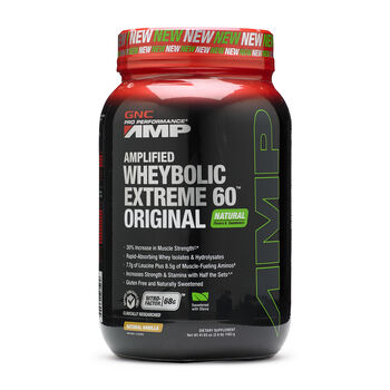 Amplified Wheybolic Extreme 60™ Original - Natural VanillaNatural Vanilla | GNC