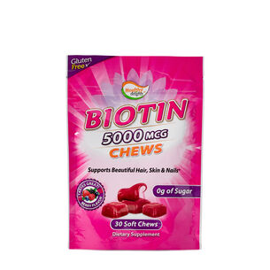 Biotin 5000 MCG Chews - Berry Flavor | GNC