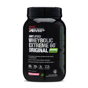 Amplified Wheybolic Extreme 60™ Original Natural Flavors - StrawberryNatural Strawberry | GNC
