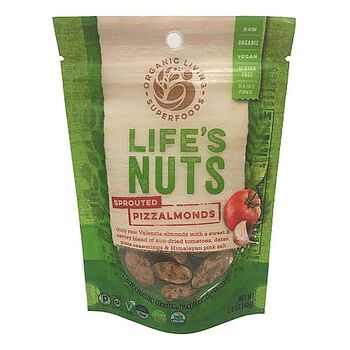 Life's Nuts - Sprouted Pizzalmonds | GNC
