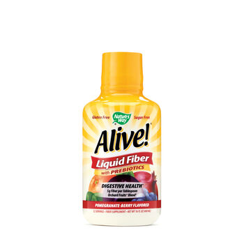 Alive!® Liquid Fiber with Prebiotics - Pomegranate-Berry | GNC