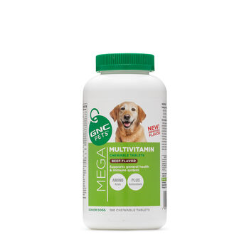 Mega Multivitamin - Senior Dogs - Beef Flavor   GNC