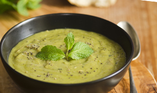 Vegetarian Split Pea Soup with Soy Protein
