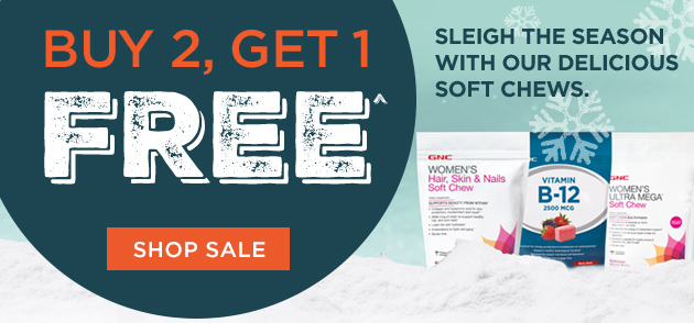 Buy 2, Get 1 Free - Sleigh The Season With Our Delicious Soft Chews.