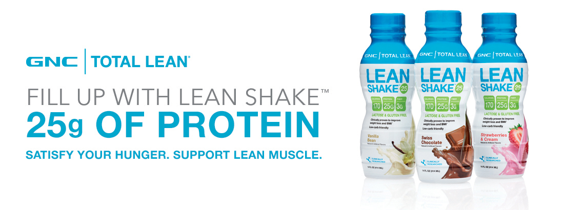 GNC Total Lean - Fill Up With Lean Shake - 25g Of Protein - Satisfy Your Hunger. Support Lean Muscle.